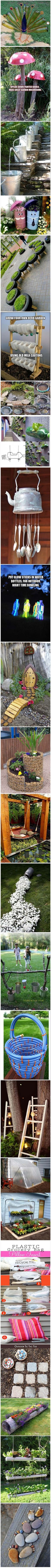 Simple ideas for reusing what you have  or can easily get. Generally low cost & sometimes even free.
