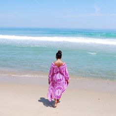 Wearing purple and gold swimsuits on the beach, purple and gold summer outfits, purple and gold beach look Gold Swimsuit, Island Clothing, Island Outfit, Wearing Purple, Gold Beach, Beach Look, Cape, That Look, Summer Outfits
