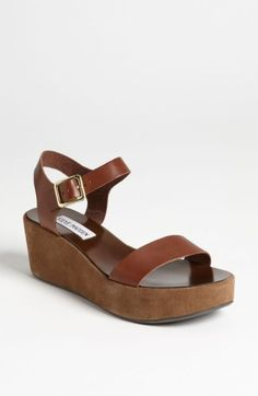 Steve Madden 'Alisse' Sandal -steve madden kick right now. Sorry guys Sock Shoes, Cute Shoes, Me Too Shoes, Strap Sandals, Wedge Sandals, Shoes Sandals, Heels, Ankle Boots, Shoe Boots