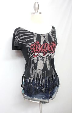 Aerosmith Customized Tour Tee 2009 with Fringes by OneLovePasadena, $33.00