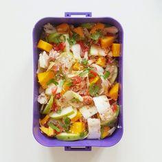 Les p'tits plaisirs d'Emma: Dans ma lunchbox 9 - Salade sucrée salée au crabe