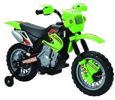Happy Rider/Fun Wheels 6-volt Battery Operated Dirt Bike Ride On, Green. Read more at http://www.toys-zone.com/happy-riderfun-wheels-6-volt-battery-operated-dirt-bike-ride-on-green/