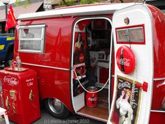 1940's Style Coca Cola Themed Camping Trailer.