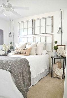 Nice 70 Modern Farmhouse Style Bedroom Decor Ideas https://roomodeling.com/70-modern-farmhouse-style-bedroom-decor-ideas