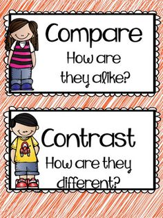 Compare and Contrast sorting activity.  Great way to introduce the comprehension skill to young learners!