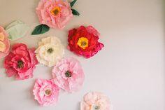 Handmade Tissue Paper Flowers by LovelyfestGoods on Etsy