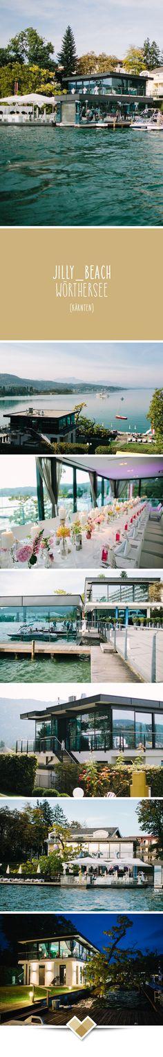 JILLY_BEACH WÖRTHERSEE: Die ALL–IN–ONE Location. Direkt am Wasser, an der Pörtschacher Promenade liegt das mehrfach ausgezeichnete JILLY_BEACH. HOCHZEITEN und FEIERN, auf drei Ebenen, in der angesagtesten See-Location. Spezialisiert auf Hochzeitsveranstaltungen können wir Ihnen ein RUNDUM – Paket anbieten. Mehr zu dieser Kärntner Hochzeitslocation: http://hochzeits-location.info/hochzeitslocation/jilly_beach-worthersee Fotos © Henry Welisch, http://www.henrywelischweddings.com/
