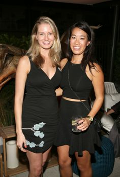 The Related Group Co-Hosted VIP Event with Whitewall Magazine and Perrin Paris 1893 at Marea During Art Week. | MetroCitizen Magazine. Designers Beth and Cheryl.