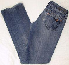 Notify NFY Hellebora Jeans Distressed Straight Leg Low Rise Made n Italy 28 X 34 #Notify #StraightLeg