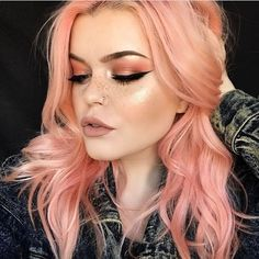 "3,019 Likes, 12 Comments - Vegan + Cruelty-Free Color (@arcticfoxhaircolor) on Instagram: ""This shade on @ashkmakeup She used Virgin Pink and Sunset Orange diluted with Arctic Mist """
