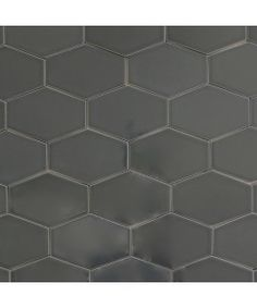 Gray Stretch Hex Kitchen & Bathroom Tile | Modwalls Designer Tile