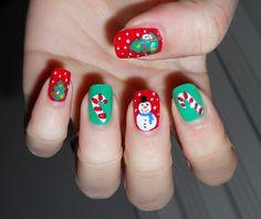 Christmas Nail Designs - My Cool Nail Designs Purple Nail Designs, Elegant Nail Designs, Elegant Nails, Cool Nail Designs, Funky Nail Art, Funky Nails, Xmas Nails, Holiday Nails, Toe Nail Art