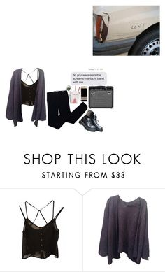 """Just Another Lovesick Afternoon"" by iamdeadpoetry ❤ liked on Polyvore featuring Brandy Melville, Tory Burch, music, black, emo, stoner and themaine"