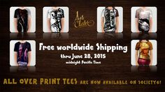 Arte Cluster Shop society6 - Free worldwide Shipping thru June 28, 2015 - Arte Cluster *Awareness through Art*  http://alcecluster.cefalea.it/ http://society6.com/artecluster - All Over Print Tees Now Available…!