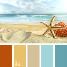 Colours of the sea are gathered in this marine colour palette. such as sand, celadon and colour of coral. this colour combination suits well summer beach