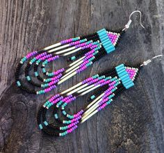 Native American Style 3 1/2 Long Beaded by prettyuniquedesigns2
