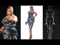 Plus Sized/ Curvy Figure: Fashion Illustration - YouTube
