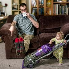 world's best father: house cleaning by Dave Engledow in  Photography  These pics are too funny.