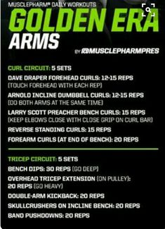 Arm Workout   Posted by: AdvancedWeightLossTips.com Arm Workout No Equipment, Arm Workout Men, Biceps Workout, Arm Workouts At Home, Fun Workouts, Strength Training Workouts, Weight Training, Arnold Training, Musclepharm Workouts