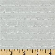 Bisou Stretch Mini Ruffle Knit White