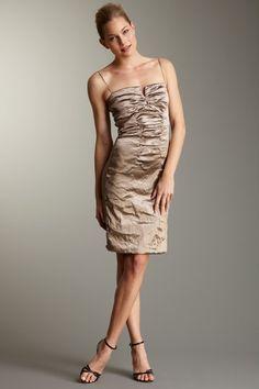 wedding perfect:  Nicole Miller Techno Metal Dress