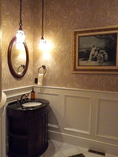 Entry Rotunda Powder Room