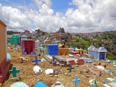 The Colorful Cemeteries of Guatemala chichicastenango-cemetery  On November 1, The locals, dressed up in colorful clothing, head to the cemetery to spend the day cleaning and tending to the graves and decorating them with flowers, and have picnics right next to their departed family members. Another tradition is the construction of giant kites of vibrant colors that are flown near the cemetery.