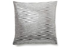 Rochelle 20x20 Pillow, Frost Gray on OneKingsLane.com