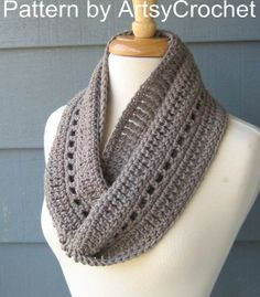 Crochet Infinity Scarf Pattern Beginner | DIY / CROCHET PATTERN Phoebe Infinity Scarf by ... | Crocheting
