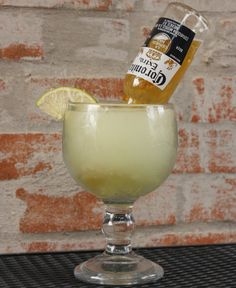 Beerita!!! ♥ You'll need: 1 can of frozen concentrated limeade, Tequila, Sprite, and a bottle of Corona