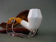GEOMETRIC-LATTICE-MEERSCHAUM-SMOKING-PIPE-PIPA-PFEIFE-HANDMADE-UNUSED