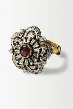 Crystal Floweret Ring