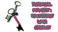 Tutorial Peyote Tecnica-rivestire una chiave ciondolo con fascia al peyo...