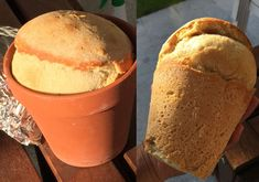 How To Make Bread When You're Camping…Using Just A Flower Pot! Sure, you could buy a loaf of bread from the store to take camping. But have you ever tried baking some over your campfire? It tastes so much fresher than regular bread, and it's not Camping Checklist, Camping Essentials, Camping Meals, Family Camping, Tent Camping, Camping Hacks, Camping Recipes, Camping Stuff, Camping Guide