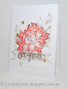 Cecilia's Cards: Majestic bloom wedding