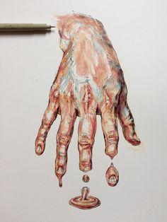 ideas gcse art sketchbook hands for 2019 ideas gcse art sketchbook hands for 2019 melting_clock Magazine - Julia Randall: Lures, Decoys, Tongues, and Bubble Gum More I'm Yellin' Timber Body art by Willey Noel Badges Pugh shop Under Thy Fingers*. Portfolio D'art, Fashion Portfolio, Art Inspo, Art Sketches, Art Drawings, Pencil Drawings, Art Du Croquis, Gcse Art Sketchbook, Sketchbook Ideas