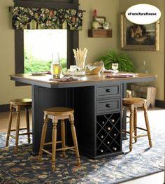 Kitchen Island table w/wine rack and drawers (craigslist) $350