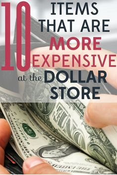 Looking for bargains on everyday items? The dollar store is a great place to start. But you should know that some items are actually more expensive at the dollar store. Ways To Save Money, Money Tips, Money Saving Tips, How To Make Money, Frugal Living Tips, Frugal Tips, Dollar Store Crafts, Dollar Stores, Setting Up A Budget