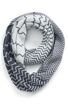 Halogen® Chevron Jacquard Wool & Cashmere Infinity Scarf available at #Nordstrom