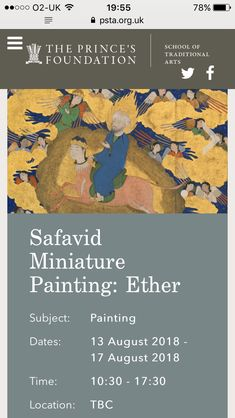 ... and Ether is my upcoming course in summer: the Safavid supernatural!