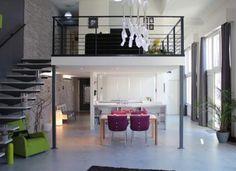 mezzanine moderne: idée pour économiser de l'espace