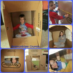 Kids love cardboard boxes! Check these ideas out!