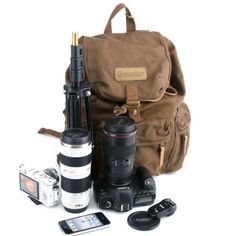 DSLR-Camera-Canvas-Backpack-Rucksack-Bag-For-Canon-Nikon-Sony-Pentax-Rain-Cover