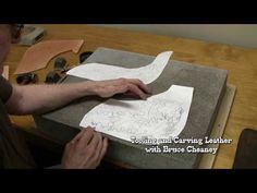 How to Draw Leather Designs Leathercraft Tutorial with Saddle Maker Bruce Cheaney