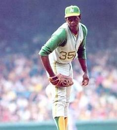 Vida Blue, Oakland Athletics, former iowa oak, my dad would always talk about how you  HAD to go when Vida pitched.