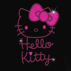 Hello Kitty Rhinestone / Glitter Vinyl IronOn by MPShineDesigns