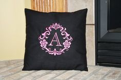 Custom Monogrammed Embroidered Pillow by SeamsDivine on Etsy, $39.00