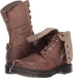 Martens Women's Aimilita Dark Brown Darkened Mirage 7 M UK Combat Boots Style, Moto Boots, Shoe Boots, Shoes, Best Rain Boots, Western Boots, Dr. Martens, Knee High Boots, Ankle Booties