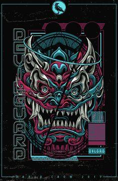 Devilguard on Behance Japanese Pop Art, Japanese Artwork, Japanese Tattoo Art, Japan Tattoo Design, Samurai Artwork, Japon Illustration, Samurai Tattoo, Cyberpunk Art, Japan Art