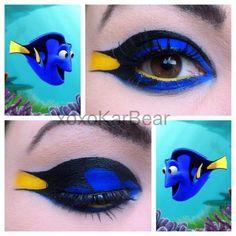 Dory from Finding Nemo Inspired Makeup Tutorial - Makeup Geek Makeup Geek, Disney Eye Makeup, Disney Inspired Makeup, Eye Makeup Art, Eye Art, Dory Makeup, Makeup Quiz, Makeup Remover, Disney Princess Makeup